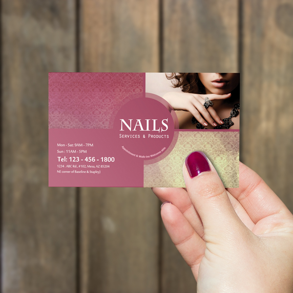 Westminster oc printing services for nails salons nails printing business cards colourmoves