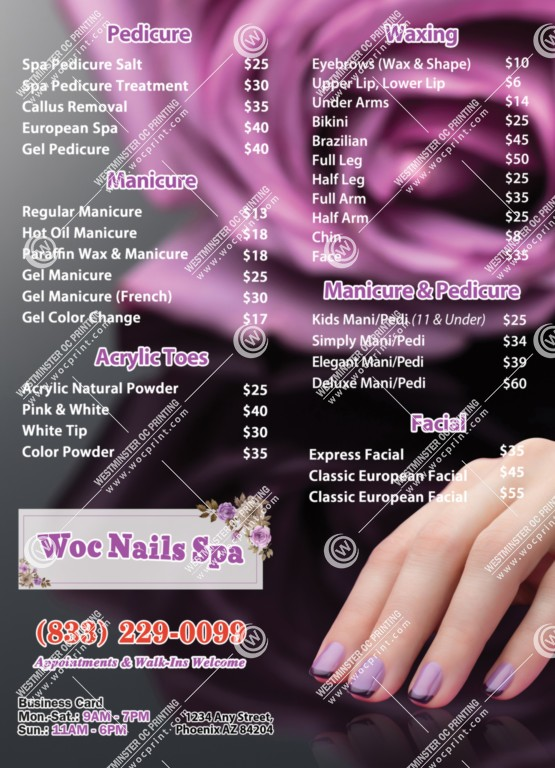 westminster printing services for nails salons nails printing